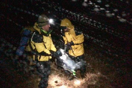 The team received a call to assist an injured walker in the Ben Alder area last night in the midst of Storm Brendan.