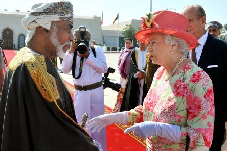The Sultan of Oman with the Queen in 2010  (Picture: John Stillwell - WPA Pool/Getty Images)
