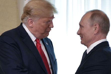 Donald Trump and Vladimir Putin meet in Helsinki after the US President spoke of his desire for an 'extraordinary relationship' with the Russian leader (Picture: Aleksey Nikolskyi/AFP/Getty Images)