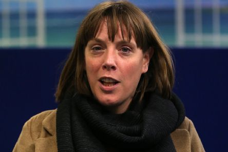 GLASGOW, SCOTLAND - JANUARY 14: Jess Phillips arrives at a city centre homeless shelter on January 14, 2020 in Glasgow, Scotland. (Photo by David Cheskin/Getty Images)