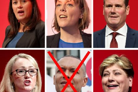 Labour MPs Lisa Nandy, Jess Phillips, Keir Starmer, Rebecca Long-Bailey and Emily Thornberry are running to replace Jeremy Corbyn as leader. Clive Lewis MP has been eliminated from the race already. Picture: PA