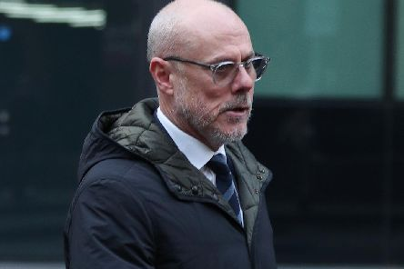 Former Barnsley assistant coach Tommy Wright arrives at Southwark Crown Court for sentencing. Picture: Yui Mok/PA Wire