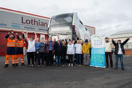 ***** FREE FIRST USE PR PICS *****  Members of Lothian and the Support In Mind Scotland charity join together for the announcement that Lothian will be supporting the charity for the next two years  In pic............    (c) Wullie Marr Photography