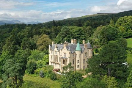 Invergare Castle, in Rhu, has been described as a 'mini-Glastonbury' due to unruly guests    picture: Airbnb