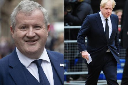 Ian Blackford urges Boris to take action on revealing alleged Russian interference in the UK democratic process   picture: JPI Media