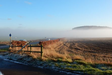 Hillend in Fife is in a valley, which means fog - and pollution - can linger