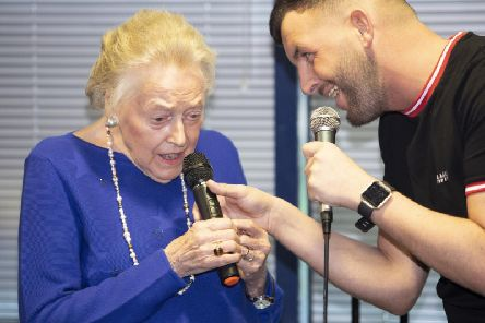 A video of her performance with home worker Jamie Lee Morely, 31, went viral - so he decided to record the tune professionally and release it as a single. Picture: SWNS