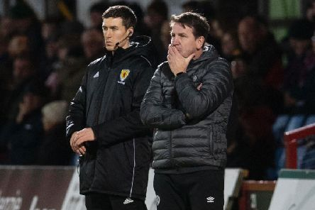 Hearts boss Daniel Stendel watched his side draw in the Highlands. Picture: SNS