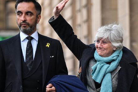 Clara Ponsati and her lawyer Aamer Anwar arrived at the Sheriff Court. Picture: Jeff J Mitchell / Getty