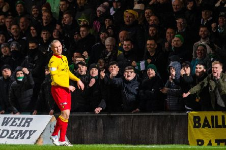 The striker played his last game against former club Celtic in the Scottish Cup. Picture: SNS