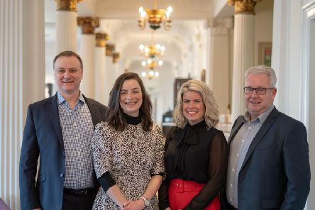 From left: Kelvin Capital's John McNicol (director), Lynn Hall (portfolio relations manager), Susie Fisher (investor relations manager) and Angus Hay (director). Picture: Contributed