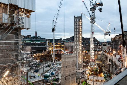 When complete, Edinburgh St James will span five floors of prime shopping, dining, leisure and entertainment. Picture: John Gilchrist/TH Real Estate