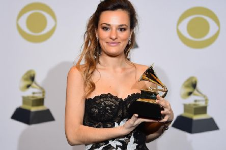The Scottish musician with her award.