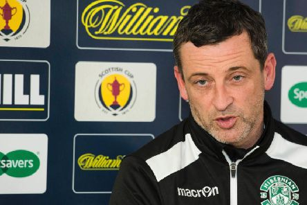 Jack Ross speaks to the media ahead of Hibs' Scottish Cup replay with Dundee United