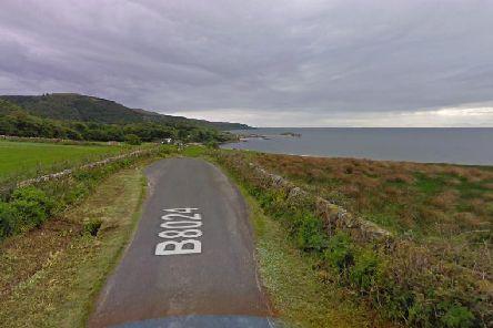 Two bodies were found after a car came off the B8024 and crashed into the sea    picture: Google Maps