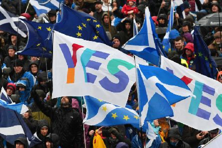 Pro-independence campaigners plan to stage several more large-scale marches in Scottish towns and cities this year. Picture: John Devlin