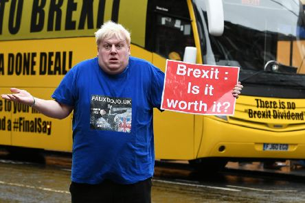 Singing Boris Johnson impersonator FauxBoJo questions the value of Brexit (Picture: John Devlin)