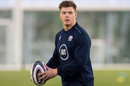 Scotland centre Huw Jones insists that none of the players has been unduly perturbed the departure of Finn Russell. Picture: SNS/SRU.