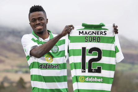 New Celtic signing Ismaila Soro, who previously played in Moldova, Belarus and Israel, is targeting the league title with his new club. Picture: Craig Foy/SNS