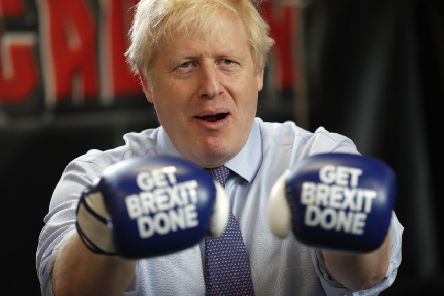 Boris Johnson campaigns ahead of December's general election with a simple message for voters (Picture: Frank Augstein - WPA Pool/Getty Images)