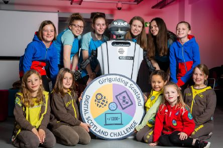 NEW GIRLGUIDING SCOTLAND BADGE HELPS GIRLS DISCOVER THEIR DIGITAL FUTURE - Picture by John Young / YoungMedia.co.uk  Girlguiding Scotland has launched the country's first digital activity badge designed to encourage girls of all ages to develop the skills they need for their digital future.  The Digital Scotland Challenge Badge was created in partnership with Skills Development Scotland (SDS) and Education Scotland, and aims to empower every girl to make the most of the opportunities technology offers. Research by Girlguiding has highlighted that science and technology still continue to be perceived as more male subjects, with one in two girls saying science, technology, engineering and maths subjects were 'more for boys' while only 37% of girls said they would consider a job in tech.   The Digital Scotland Challenge badge aims to change those perceptions and will teach young girls about computers, algorithms, creativity, design, and computational thinking, as well as highlighting career options in the indust
