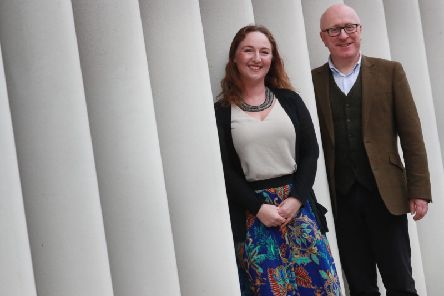 Purpose HRs CEO Lisa Thomson and new board adviser Gary Deans. Picture: Stewart Attwood