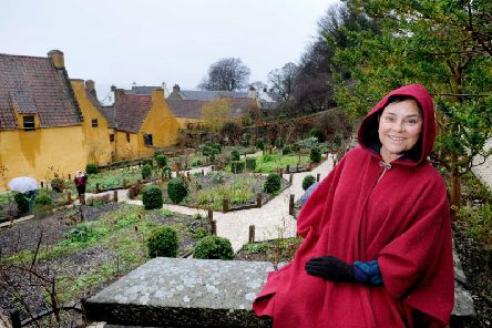 Diana Gabaldon photographed during a visit to Scotland last year at Culross Palace in Fife. PIC: VisitScotland.