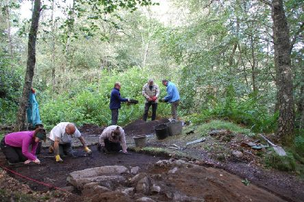 Archaeologists at the site of the King's Seat Hillfort near Dunkeld where tantalising details of the lives of rich Picts have emerged. PIC: PKHT.