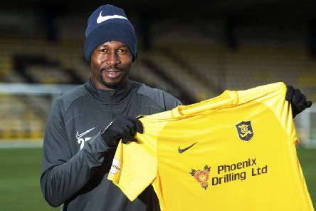 Former Celtic and Hibs defender Efe Ambrose isunveiled by Livingston. Picture: Paul Devlin/SNS
