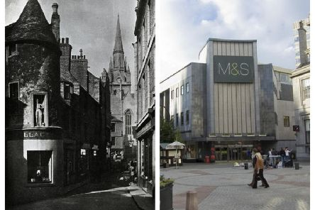 The early 17th Century Wallace Tower - or Benholm Lodgings - in Netherkirkgate, Aberdeen, was pulled down in the 1960s to make way for a bigger Marks and Spencers. PIC: Image provided Courtesy of Aberdeen City Libraries/www.geograph.org.