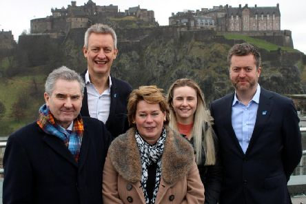 From left: Roger Mullin (Momentous), Russell Dalgleish (SBN), Michelle Thomson (Momentous), Kendra Byers and Sandy Donaldson (both of SBN). Picture: contributed.