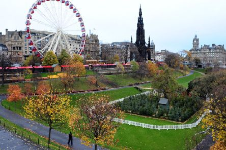 The giant ferris wheel in Princes Street Gardens has become a fixture of the city's summer and winter festivals.