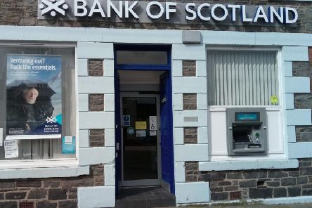 Lloyds Banking Group owns Bank of Scotland, which has been reducing the size of its branch network. Picture: Louise Kerr