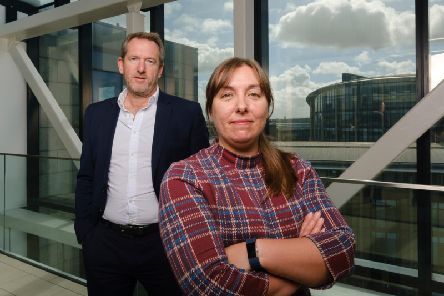 Les Bayne and Michelle Hawkins, joint MDs at Accenture in Scotland. Picture: Contributed