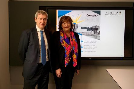 Fiona Hyslop with Jose Alonso, chairman of CTG. Picture: Contributed