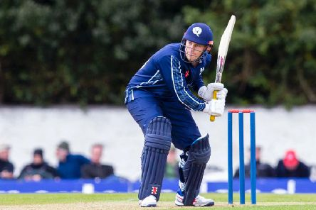 George Munsey in action for Scotland at the Grange