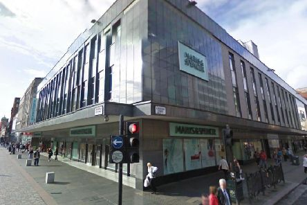 The incident happened outside Marks and Spencer on Argyle street. Picture: Google