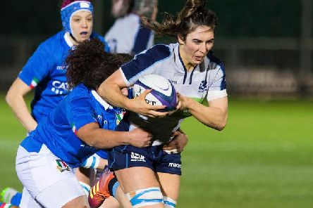 Emma Wassell in action for Scotland against Italy in last year's fixture at Scotstoun. Picture: SRU/SNS