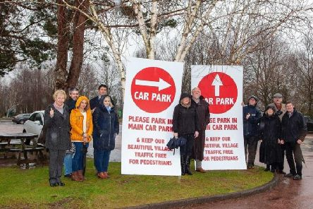 The village on the banks of Loch Lomond attracts more than 750,000 visitors a year, but many of its 120 residents are now threatening to block roads unless the council imposes restrictions on traffic picture: PA