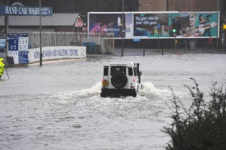 Flooding in Paisley contributed to the game being called off. Picture: SNS