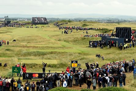 Henrik Stenson on his way to Open glory at Royal Troon in 2016