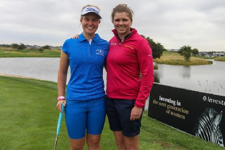 Gabrielle Macdonald, left, and Hannah McCook are playing in this week's Joburg Ladies Open at Soweto Country Club