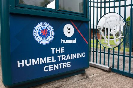 A general view of the entrance of the Hummel Training Centre