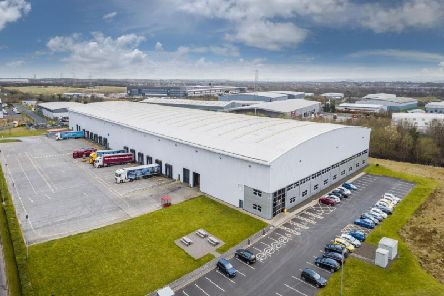 The 122,000 square foot Titan building at Eurocentral, which is being marketed by Colliers International. Picture: Contributed