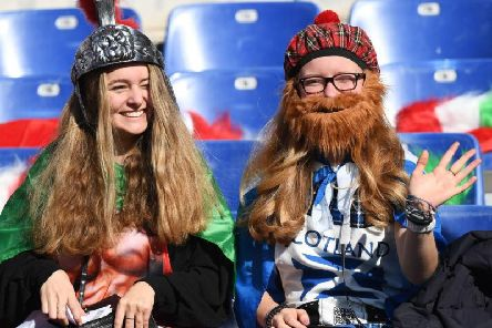 Rugby fans in Rome ahead of the Italy v Scotland match on Saturday. Picture: Getty Images