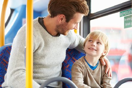 Free bus travel for children could persuade people to use a more energy-efficient form of transport