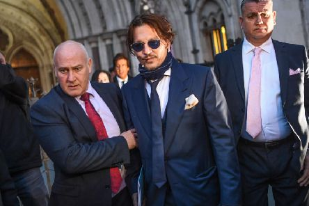 Johnny Depp is seen leaving the Royal Courts of Justice on February 26, 2020 in London, England. The Hollywood actor is suing The Sun newspaper over claims he beat up his ex-wife Amber Heard picture: GettyImages