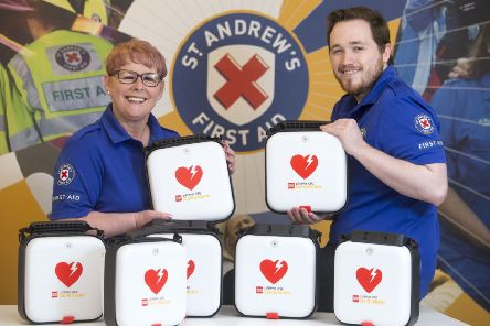 St Andrew's First Aid equips volunteers in Stornoway with life-saving defibrillators