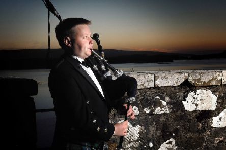 Callum Beaumont, pictured at Dunvegan Castle, will be performing in Stornoway on November 9th.