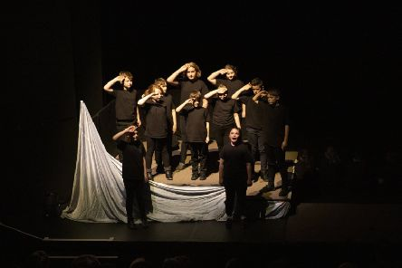 The Iolaire play, 'An Oidhche Mus Do Sheoil I,' was performed by Sgoil An Rubha pupils.